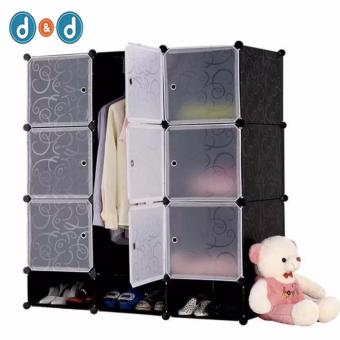 D&D Tupper Cabinet 9 Cubes Full Black DIY Wardrobe With Shoe Rack Price Philippines