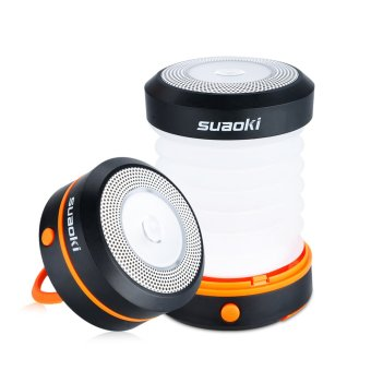 Harga suaoki Collapsible camping LED lartern-O Orange