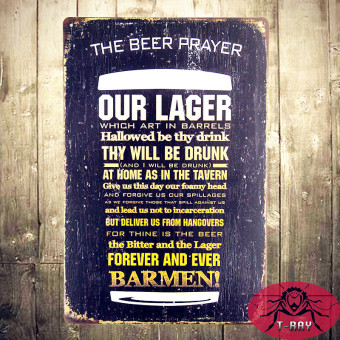 T-ray The Beer Prayer Vintage Metal Tin Sign Retro Bar Home Pub Shop Wall Decor - Intl Price Philippines