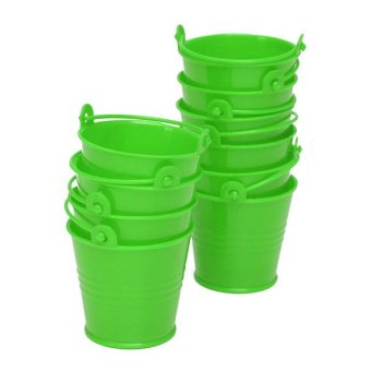 10x Mini Cute Bucket Colored Wedding Party Favour Keg Box Gift Pails Candy Lolly Green Price Philippines