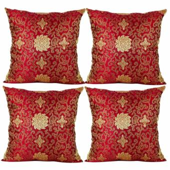 "Home Essentials Paisley Pattern 16"" x 16"" Satin Throw Pillow Case Set of 4 Price Philippines"