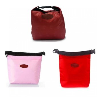 Iconic Lunch Bag Set of 3 (Maroon, Pink, Red) Price Philippines
