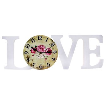 Harga Wallmark Love Rose Wall Clock