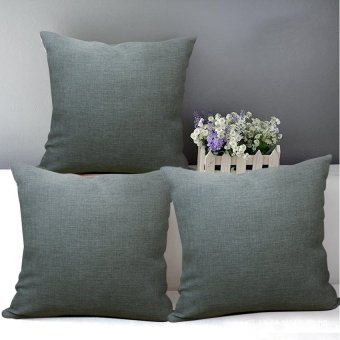 "Home Essentials Mud Grey 16"" x 16"" Throw Pillow Case Set of 3 Price Philippines"