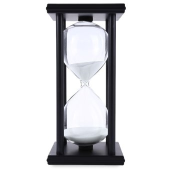 Hourglass Sand Timer 60 Minutes Wood Sand Timer (Black/White) Price Philippines