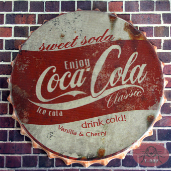 35cm Tin Sign ice coke drink cold Creative Vintage Iron Restaurant Bar KTV Decorative Wall Hanging Ornaments RM-75 - Intl Price Philippines