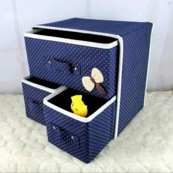 LOVE&HOME Foldable Woven Clothing Storage Box (Blue) Price Philippines