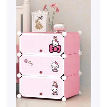 Fordable Tupper Cabinet 3 Layer Shoe Rack HK (PINK) Price Philippines