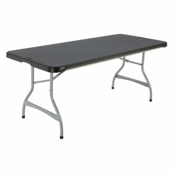 Harga Lifetime Black 6-foot Commercial Stacking Folding Table