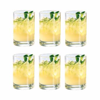 Harga Homex Rock Glass / Whiskey Glass / Old Fashion Glass / Scotch Glass 160ml Glassware Set of 6 (Y70084)