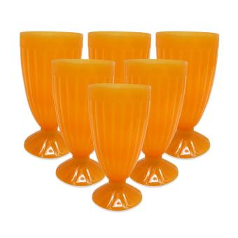 Harga Oriental Halo-Halo Glass 504 Orange Set of 6pieces 475964A W32