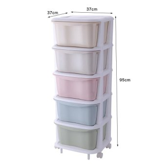 Drawer Cabinet Child Baby Toys Lockers Organize Cabinets , Tier 5 - intl Price Philippines