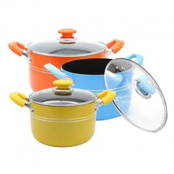 Harga Rising Star 6 Piece Non-Stick Cook Pot Set