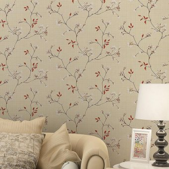 OrangeTag White Peony Self-Adhesive Wallpaper / Wall Paper (10 meters) Price Philippines