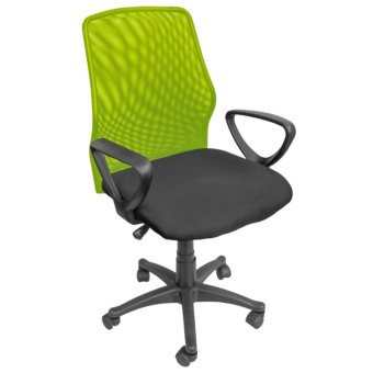 Harga Ergodynamic EMC-124GRN Mesh Office Chair Furniture (Green)