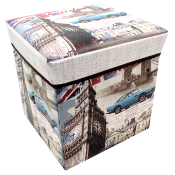 Harga Wallmark Ottoman Storage Box Chairs Big Ben