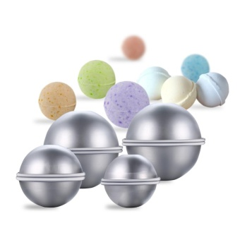 Harga 8 Pcs DIY Metal Bath Bomb Mold Set with 3 Sizes Aluminum Alloy Bomb Balls Molds for Crafting Your Own Fizzles - intl