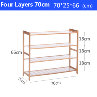 Harga Shoe Racks Bamboo Assembled Type Solid Wood Multilayer Special Offer Shoe Hanger Room Natural Wood Household Shelves F1003-05