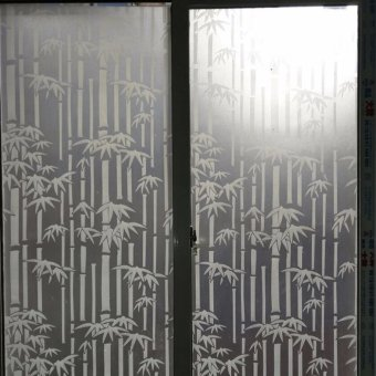 OrangeTag Bamboo Frosted Glass Privacy Film / Sticker Price Philippines