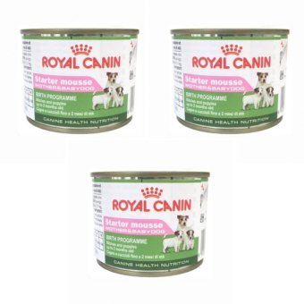 Harga Royal Canin Starter Mousse Puppy Food (195 grams) Set of 3