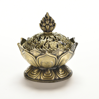 Amango Tibet Incense Burner Censer Auspicious Lotus Shape Bronze Price Philippines