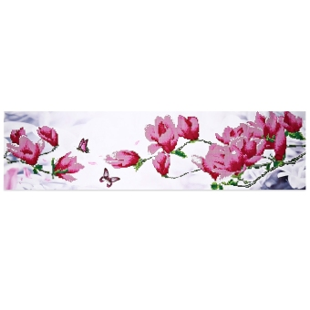105 x 35cm 5D Butterfly Magnolia Full Drilled Needlework DIY Diamond Painting Cross Stitch Tool - intl Price Philippines