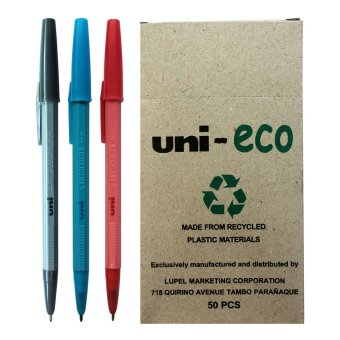 Uni Ballpen Eco (Blue/Black/Red) Pack of 50 Price Philippines