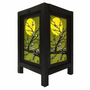 Harga Oriental Wooden Lamp or Lantern - Cherry Blossom (Green)