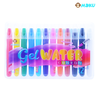 Harga MOKU Gel Water Crayon (with 12 Vibrant Colors)