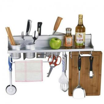 Multifunctional 60cm Space Aluminum Kitchen Wall Mounted Storage Rack (Intl) Price Philippines