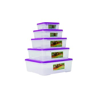 Harga Sunnyware Food Keepers 720 Series Set of 5 (Violet)