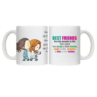 Harga CopyCut Couple Cute Inspirational Statement Mug Grey's Anatomy Best friend - Gift Set