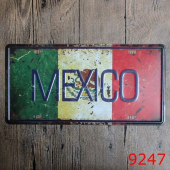 Vintage Tin Signs Metal Plate MEXICO Metal Board Home Decorations Metal Wall Art 30X15cm Price Philippines
