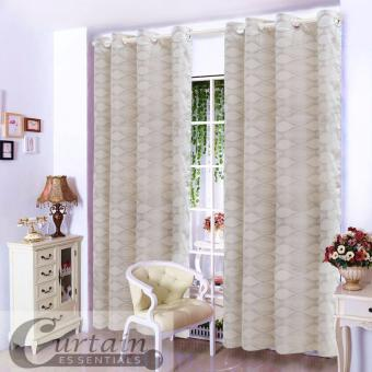 "Home Classy Decor Fresno Grommet Jacquard 55"" x 84"" Double Panel Curtain CD-05 Price Philippines"