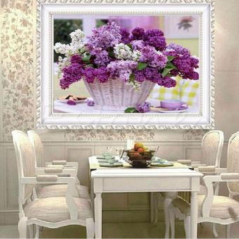 Harga Rising Star Flower Baskets DIY 5D Diamond Painting Cross Stitch Full Drill Rhinestone Painting Decor #8563