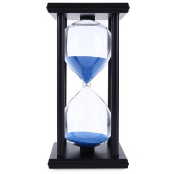 Hourglass Sand Timer 60 Minutes Wood Sand Timer (Black/Blue) Price Philippines