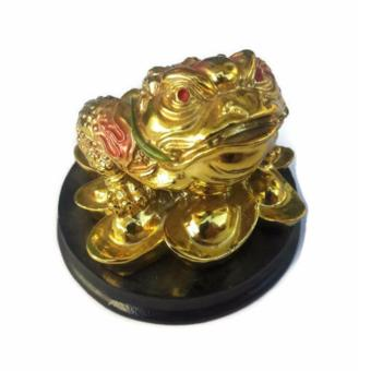 Harga Be Lucky Charms Feng Shui Money Catcher Three Legged Lucky Golden Frog Ornament