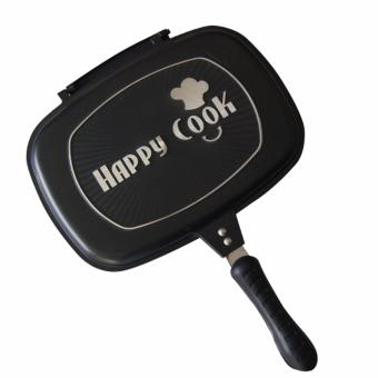 Harga Happy Cook Aluminum Double-Sided Grill Pan 32cm (Black)