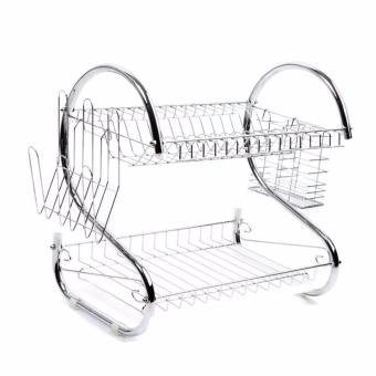 2-Layer Dish Drainer (Silver) Price Philippines