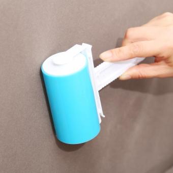 Blue Reusable Washable Sticky Picker Clothes Cleaner Lint Roller Pet Hair Remover Brush - intl Price Philippines