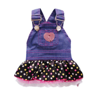 Amango Pet Dog Dress Puppy Shoulder Strap Denim Price Philippines