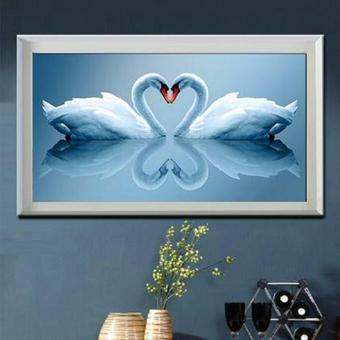 Harga Rising Star Heart Swan DIY 5D Diamond Painting Cross Stitch Full Drill Rhinestone Painting Decor #8614