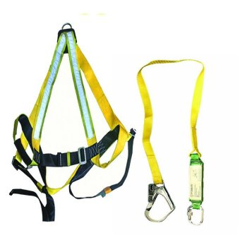 Harga Spiderking Full Body Reflectorized Harness 1D Ring and Single Lanyard with Shock Absorber