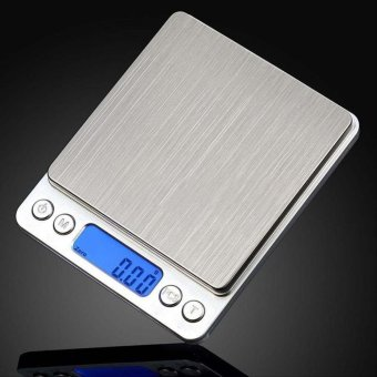 HengSong Stainless Steel Electronic Scale Portable Ultrathin Home KitchenFood Weight Scale g/oz up to 3kg - High Precision 0.1g - intl Price Philippines
