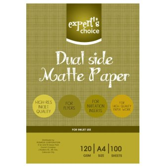 Expert's Choice Dual Side Mattepaper A4, 100 Sheets Price Philippines