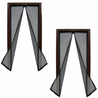 Magic Mesh Instant Screen Door (Black)Set of 2 Price Philippines