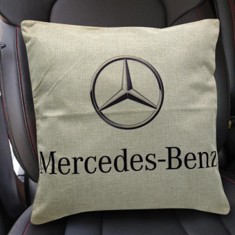 Cotton Linen Canvas Decorative Throw Pillow Case Cushion Cover 16x16 inches Mercedes Benz (Multicolor) Price Philippines