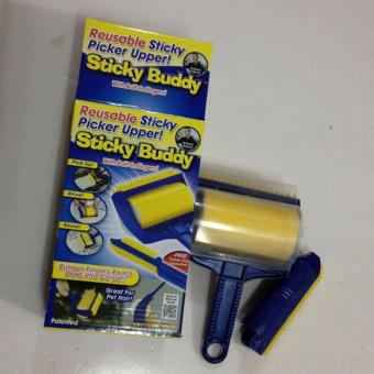 Sticky Buddy Hair Lint Dust Remover 2-Piece Set (Blue/Yellow) Price Philippines