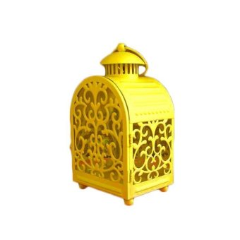 Cage Retro Candle Night Light Lantern - Yellow Price Philippines