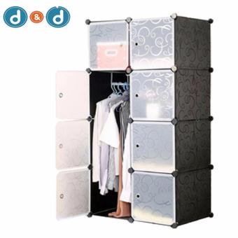 D&D Tupper Cabinet 8 Cubes Full Black DIY Wardrobe Price Philippines